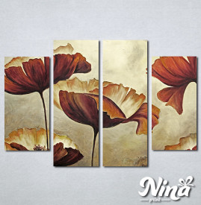 Slike na platnu Braon cvet Nina303_4