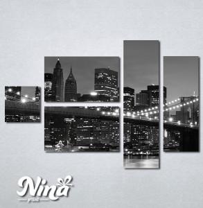 Slike na platnu Bruklinski most noću Nina281_5