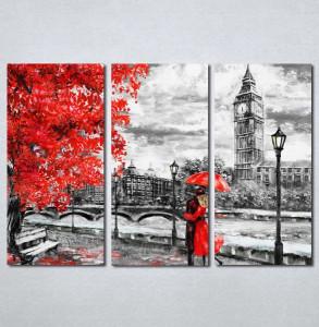 Slike na platnu crveni kisobran i haljina Nina197_3