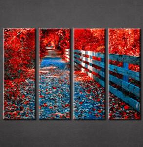 Slike na platnu Crveno lišće Nina3082_4