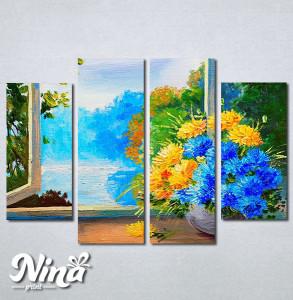 Slike na platnu Cveće na prozoru Nina256_4