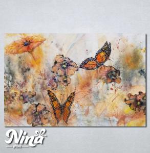 Slike na platnu Cvet i leptiri Nina244_P