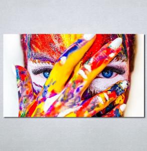 Slike na platnu Devojka color Nina 133_P