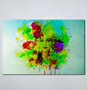 Slike na platnu Devojka u bojama Nina076_P