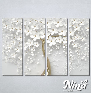Slike na platnu Drvo sa belim cvetom Nina302_4