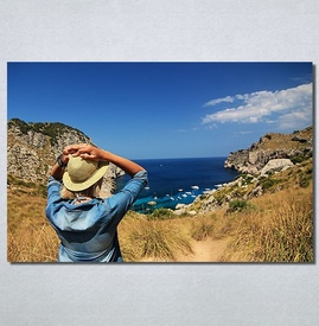 Slike na platnu Girl and sea Nina30155_P
