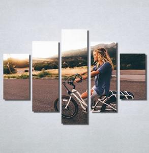 Slike na platnu Girl on bike Nina30186_5