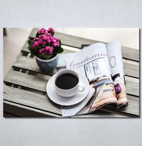 Slike na platnu Kafa i novine Nina30330_P