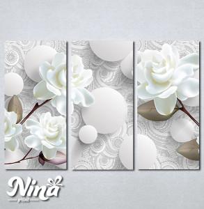 Slike na platnu Nežna bela ruža Nina275_3