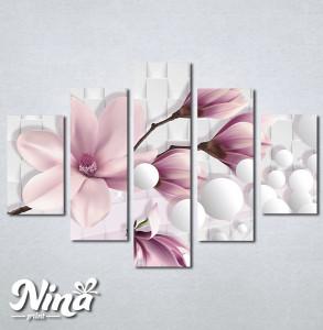 Slike na platnu Nezno roze magnolija Nina318_5