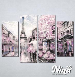 Slike na platnu Pariz zaljubljeni par Nina237_4