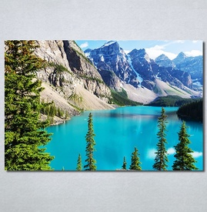 Slike na platnu Planinsko jezero Nina30297_P