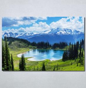 Slike na platnu Planinsko jezero Nina30320_P