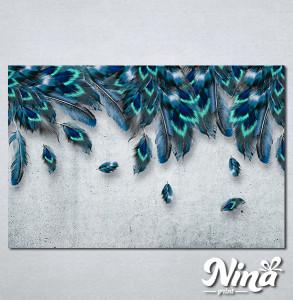 Slike na platnu Plavo perje Nina338_P
