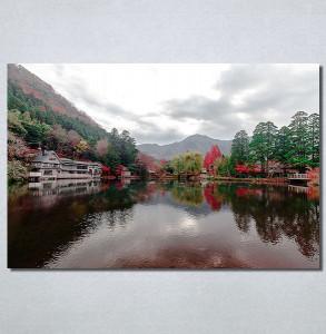 Slike na platnu Pogled na jezero Nina30184_P