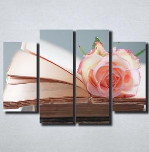 Slike na platnu Ruza i knjiga Nina164_4
