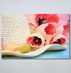 Slike na platnu Šešir i cveće Nina30299_P