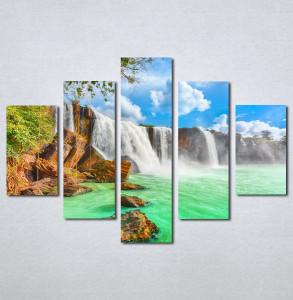 Slike na platnu tirkizni vodopad Nina140_5