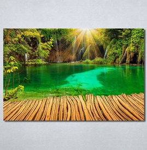 Slike na platnu Tirkizno jezero Nina30378_P
