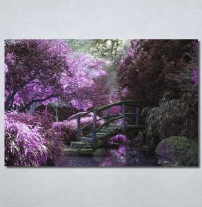 Slike na platnu Vrt i ljubičasto drvo Nina30220_P
