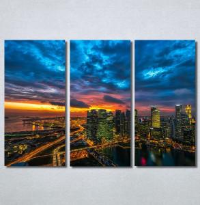 Slike na platnu Zalazak sunca u gradu Nina30247_3