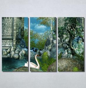 Slike na platnu Zamak i labud Nina30257_3