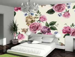 Foto tapet Retro ruže Tapet188