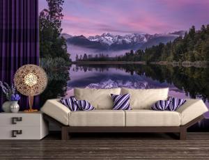 Foto tapeta Jezero i planine Tapet172