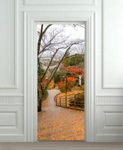 Nalepnica za vrata Jesenje boje 6184
