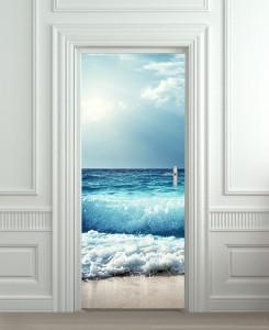 Nalepnica za vrata Morski talasi 6145