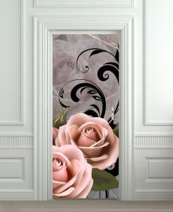 Nalepnica za vrata Roze ruže 6209