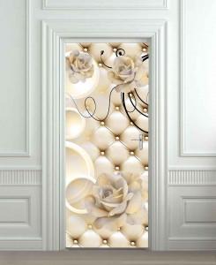 Nalepnica za vrata ruže 6189