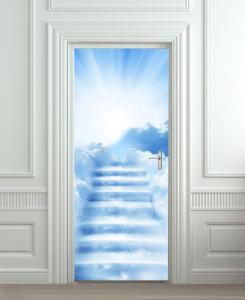 Nalepnica za vrata Stepenice ka nebu 6075