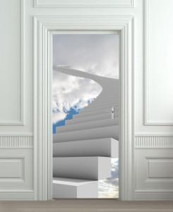 Nalepnica za vrata Stepenice ka nebu 6115