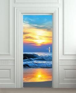 Nalepnica za vrataZalazak sunca 6143