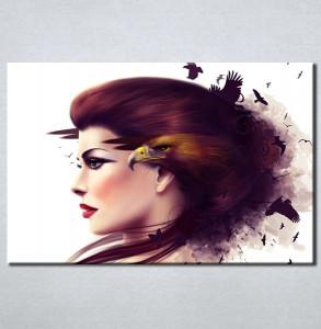 Slika na platnu Devojka i orao Nina3066_P