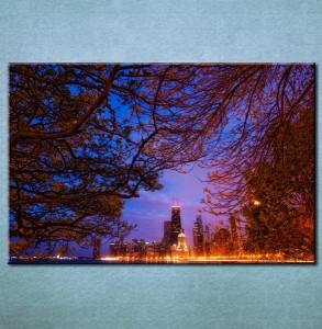 Slika na platnu Grad noću 3003_P