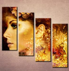 Slika na platnuDevojka i cvet u kosi 3014_4