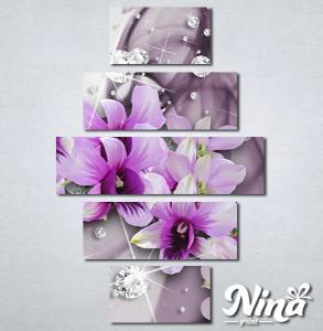 Slike na platnu 3d Ljubičasto cveće Nina316_5