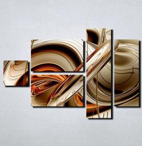 Slike na platnu Apstrakcija oblici Nina116_5