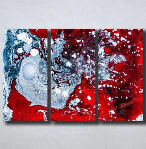 Slike na platnu Apstrakcija razlivene boje Nina176_3