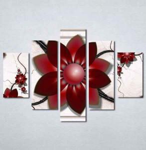 Slike na platnu Apstraktni bordo cvet Nina198_5
