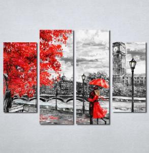 Slike na platnu crveni kisobran i haljina Nina197_4
