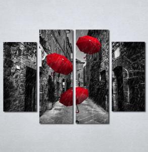 Slike na platnu Crveni kisobrani Nina209_4
