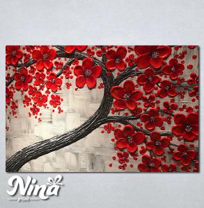 Slike na platnu Crveno drvo Nina263_P
