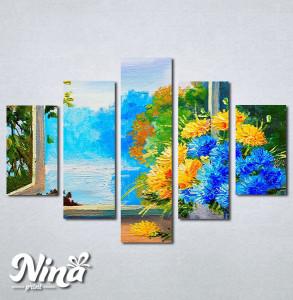 Slike na platnu Cveće na prozoru Nina256_5
