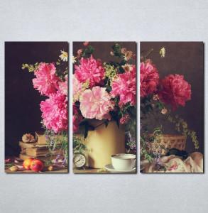 Slike na platnu Cveće u vazi i šoljica kafe Nina078_3