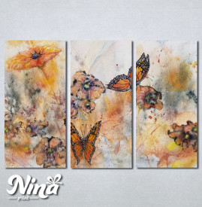Slike na platnu Cvet i leptiri Nina244_3