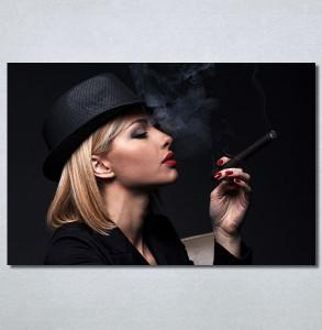 Slike na platnu Dama u crnom Nina30345_P