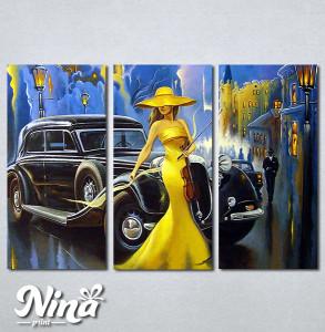 Slike na platnu Dama u žutom i violina Nina290_3